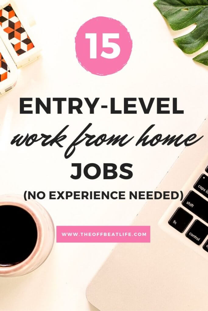 entry level work from home jobs