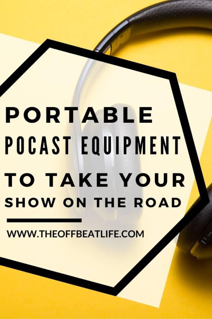 portable podcast setup