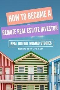 remote real estate investor