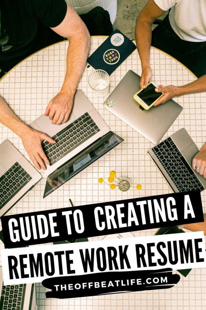 Remote work resume