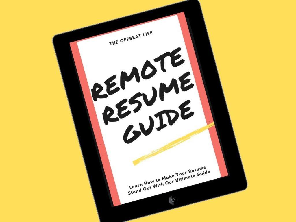 remote resume guide